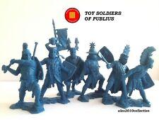 """PUBLIUS"" German Knights set2, XII century, 6 rubber plastic soldiers 1:32"