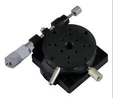 R Axis Sliding Bearing Micrometer Manual Adjustable Stage Rotating Platform 38mm