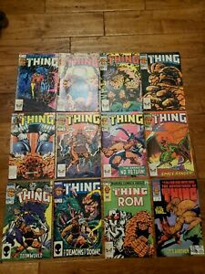 The Thing lot of 12 comics, early issues!