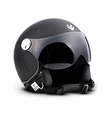 Arrow Av-84 Matt Black · urbano moto motocicleta casco Demi-jet Scooter...