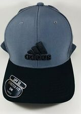 """NEW"" Adidas Men's Adizero Scrimmage Stretch Fit Cap Onix/Black S/M"