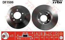 TRW Juego de 2 discos freno 303mm MERCEDES-BENZ CLASE G PUCH G-MODELL DF1599