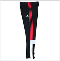adidas 3Stripes Youth Performance Midfielder Warm Up Track Pants Black-Black Red