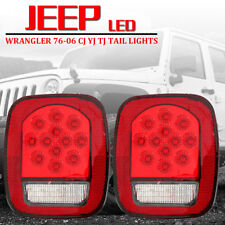 LED Tail Lights Brake Reverse Turn Signal For Jeep Wrangler TJ CJ 76-06 Lamps US
