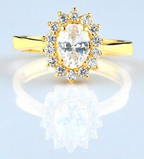 14KT Solid Yellow Gold 1.40 Carat Fantastic Oval Shape Solitaire Women's Ring