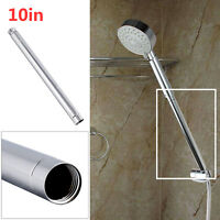 10in Universal Brass Shower Head Extension Straight Shower Arm Extra Hose Pipe