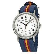 TIMEX - Weekender Blue/Maroon T2P234 RRP$149 with 2 year Warranty and packaging
