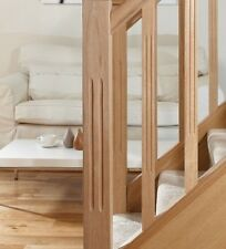 Pine Double Reeded Fluted Stair & Landing Balustrade Kit Posts Rails Spindles