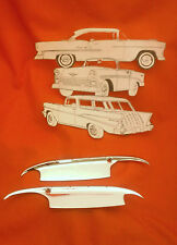 1955 1956 Chevy Door Handle Guards Shields Scuff Guards 2 Door 4 Door Belair ALL