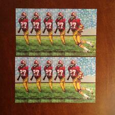 Ken Houston Redskins Lot of 10 unsigned Goal Line Art Cards