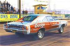 Dick Landy's 68 Dodge Charger...Drag Racing Art Print
