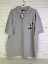 NYPD Officially Licensed Embroidered Logo Polo Short Sleeve Shirt Gray Mens 2XL