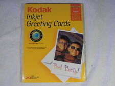 KODAK INKJET GREETING CARDS MATTE (20 per pkg.) XTR BRIGHT WHITE - FREE SHIPPING