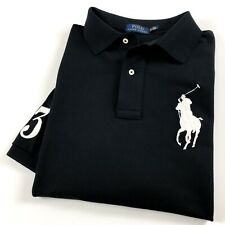Ralph Lauren Polo Camisa Para Hombre Big & Tall Polo Negro Big Pony RRP £ 129
