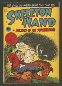 Skeleton Hand #4, Mar.- Apr. 1953 - Double Cover!