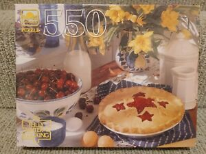 """Vintage Golden Guild Country Kitchen 550 Piece 18"""" x 14"""" Jigsaw Puzzle SEALED"""