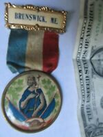 Antique Religious Medal, SOCIETE ST. JEAN BAPTISTE, Brunswick, Maine, Catholic