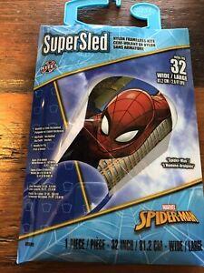 """Supersled  Marvel Spiderman 32"""" Kite Nylon frameless FREE SHIPPING"""