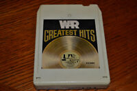 WAR Greatest Hits 8-Track Tape CISCO KID Great Songs LOW RIDER Plays Perfect
