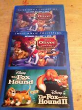 Oliver and Company/The Fox & Hound I&II 1&2(Blu Ray)NEW AUTHENTIC Disney US