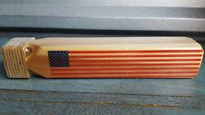 Maple Landmark American Flag Train Whistle Wooden Whistle