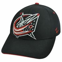 NHL COLUMBUS BLUE JACKETS BLACK FLEX FIT SMALL HAT CAP