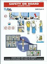 Safety Card - Flybe - Q400 Dash 8 - No British European tag line (S3780)