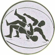 24 Embleme D:50mm Ringen bronze (Medaillen Pokale Pokal Emblem Turnier Auto NEU)