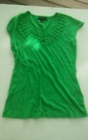 000 Womens XS Banana Republic Green Short Sleeve Top Shirt