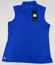 NEW Antigua Women's Sleeveless Avail Desert Dry Golf Polo Shirt Blue Size M