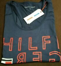 Authentic women's Tommy Hilfiger Graphic Vest Navy Size Large RRP £45 BNWT