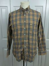 BURBERRY London Sz M Nova Check Shirt Button Collar Pocket