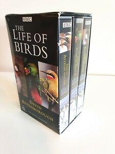 David Attenborough The Life Of Birds VIDEO Box Set 3 VHS Tapes PAL 1998 as new