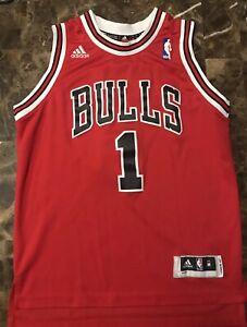 NBA Chicago Bulls Basketball jersey #1 Derrick Rose Youth Size M Stitched