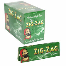 More details for full box of 100 booklets zig zag tobacco rolling papers green cut corner
