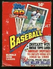 Topps 1991 Factory 40 Years of Baseball Bubble Gum Cards. 36 Count