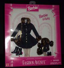 Mattel Barbie & Kelly Fashion Avenue Matchin Styles Outfit Denim Fur Winter Coat
