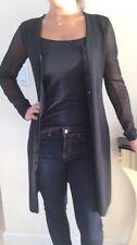 Gianfranco Ferre GFF Black Women's Long Wool Blend Cardigan  Size S