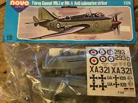 Vintage Novo F228 Fairey Gannet Mk1/4 Anti Submarine Striker 1:72 Fleet Air Arm