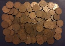 100 Uk Pennies 1937-1949 King George Vi Large England Great Britain Coins 1D