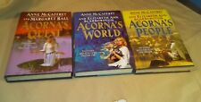 3 Books Adventures of the Unicorn Girl by Anne McCaffrey: Quest, People, World
