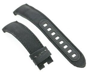 Omega Speedmaster Dark Side of the Moon 21mm Black Fabric & Calf Watch Strap