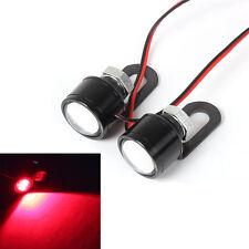 Motorcycle LED Mirror Decor Warming Strobe Flash Light Lamp License Plate 12V