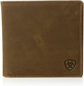 Ariat Mens Distressed Leather Oversized Bifold Western Wallet