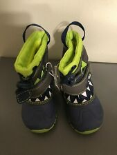 Cat & Jack toddler winter boots size 4 monster boys bernardo