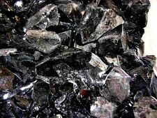 Obsidian Black rough smaller pieces all natural Mexico 1 pound lot 40 + pieces