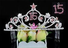 Cristal Floral Vid nupcial Peine #3219