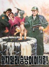 "North KOREA Anti-American Propaganda Poster On Canvas Print 8x10"" #038"