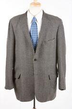 Mens Vintage Classic Sport Coat 44 R in Charcoal Gray Herringbone 100% Cashmere