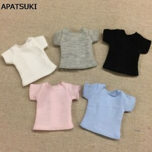 Pure Color Doll T-shirt for Blythe Dolls Base Shirt Top Clothes For Azone Momoko